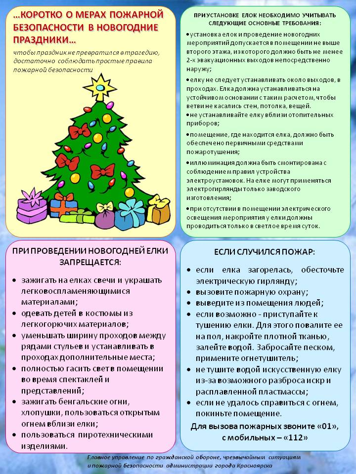 Рекомендации по проведению новому году
